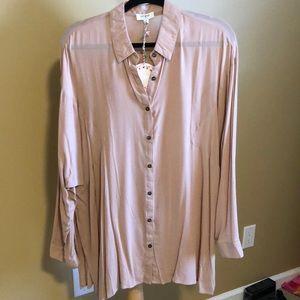 Umgee sheer blouse (blush)